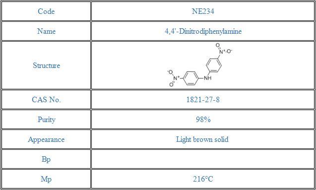 4,4'-Dinitrodiphenylamine(1821-27-8)
