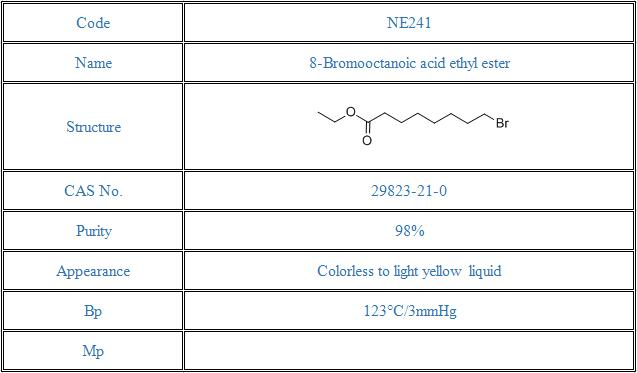 8-Bromooctanoic acid ethyl ester(29823-21-0)