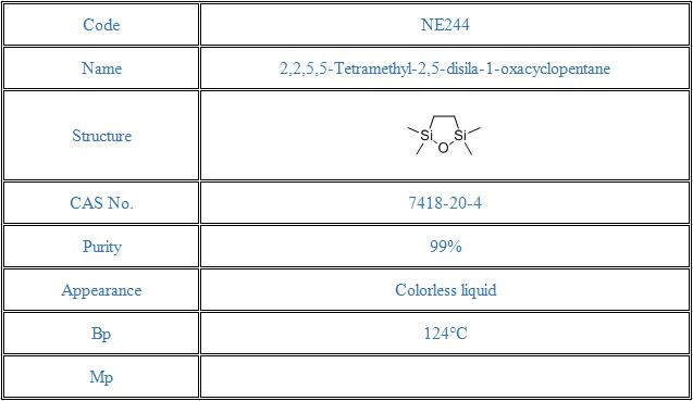 2,2,5,5-Tetramethyl-2,5-disila-1-oxacyclopentane(7418-20-4)