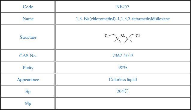 1,3-Bis(chloromethyl)-1,1,3,3-tetramethyldisiloxane(2362-10-9)