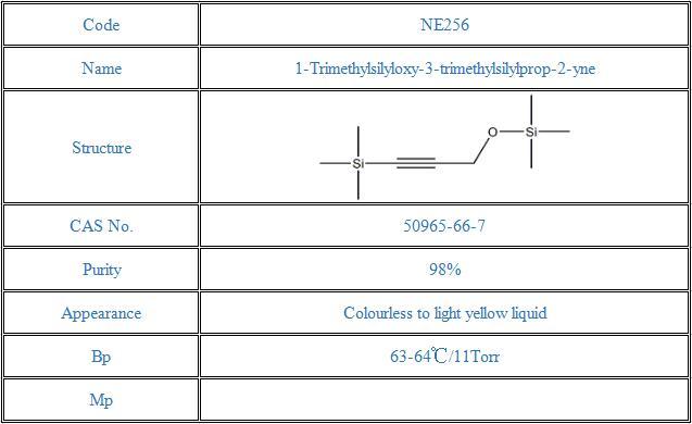 1-Trimethylsilyloxy-3-trimethylsilylprop-2-yne(50965-66-7)