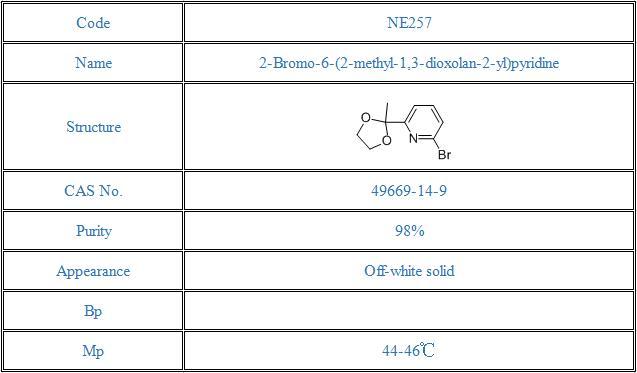 2-Bromo-6-(2-methyl-1,3-dioxolan-2-yl)pyridine(49669-14-9)