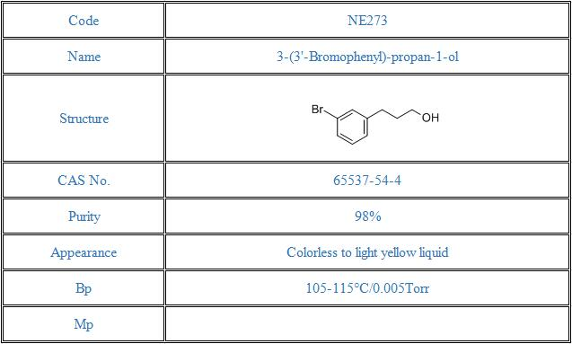 3-(3'-Bromophenyl)-propan-1-ol(65537-54-4)