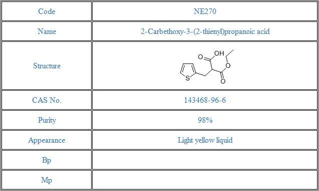 2-Carbethoxy-3-(2-thienyl)propanoic acid(143468-96-6)