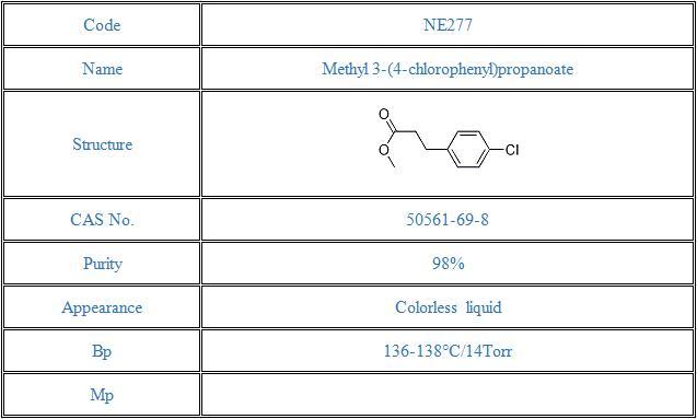 Methyl 3-(4-chlorophenyl)propanoate(50561-69-8)