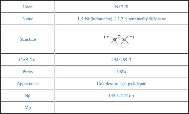 1,3-Bis(iodomethy)-1,1,3,3-tetramethyldisiloxane(2943-69-3)