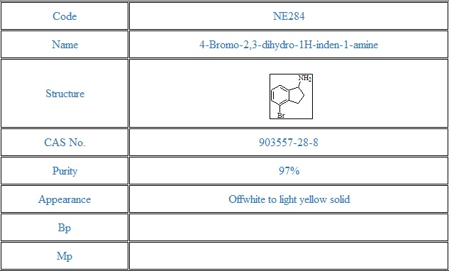 4-Bromo-2,3-dihydro-1H-inden-1-amine(903557-28-8)