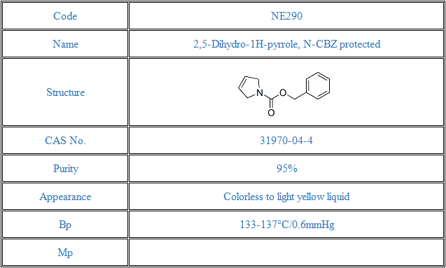 2,5-Dihydro-1H-pyrrole, N-CBZ protected(31970-04-4)
